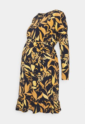 MLLOIRE DRESS - Day dress - navy blazer/yellow/orange