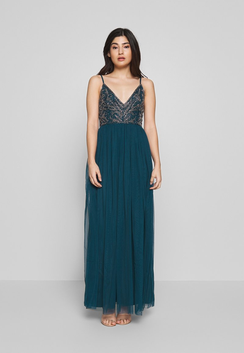 Lace & Beads Petite - SERAPHINA - Suknia balowa - teal