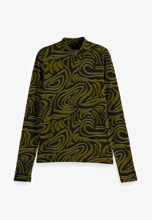 PRINTED LONG SLEEVED HIGH NECK - Long sleeved top - combo j