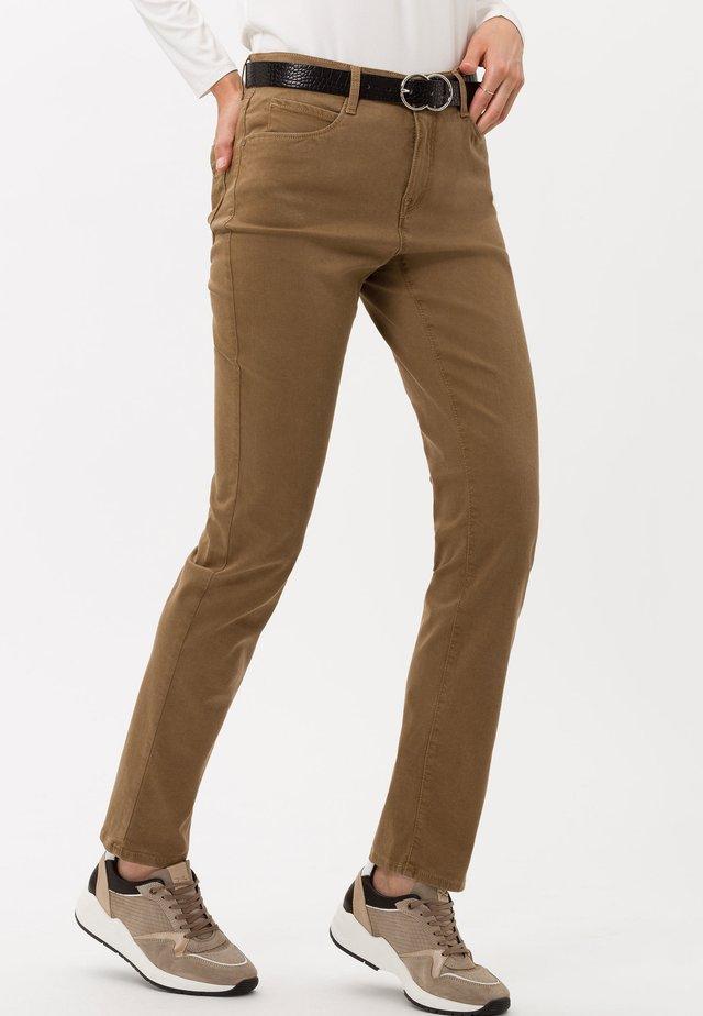 STYLE CAROLA - Jeans a sigaretta - walnut