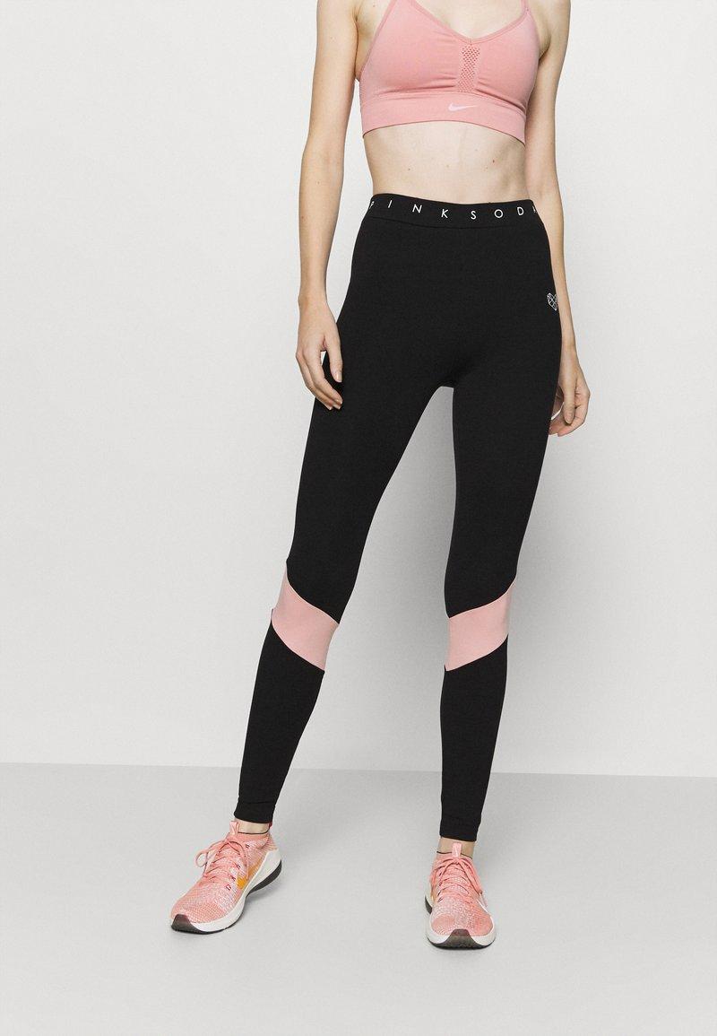 Pink Soda - ALLURE - Leggings - black/pink