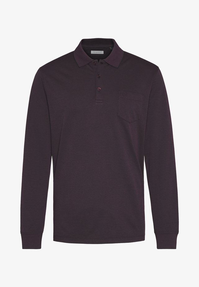 LONG SLEEVED - Polo shirt - brombeere