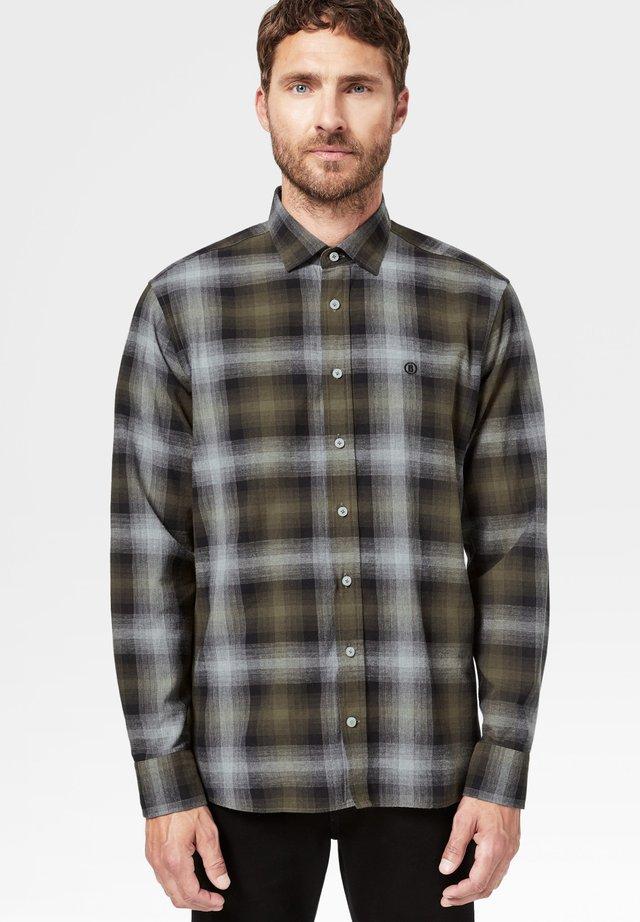 Shirt - oliv-grün/grau