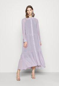 Monki - COLLINA DRESS - Blusenkleid - solid purple - 0