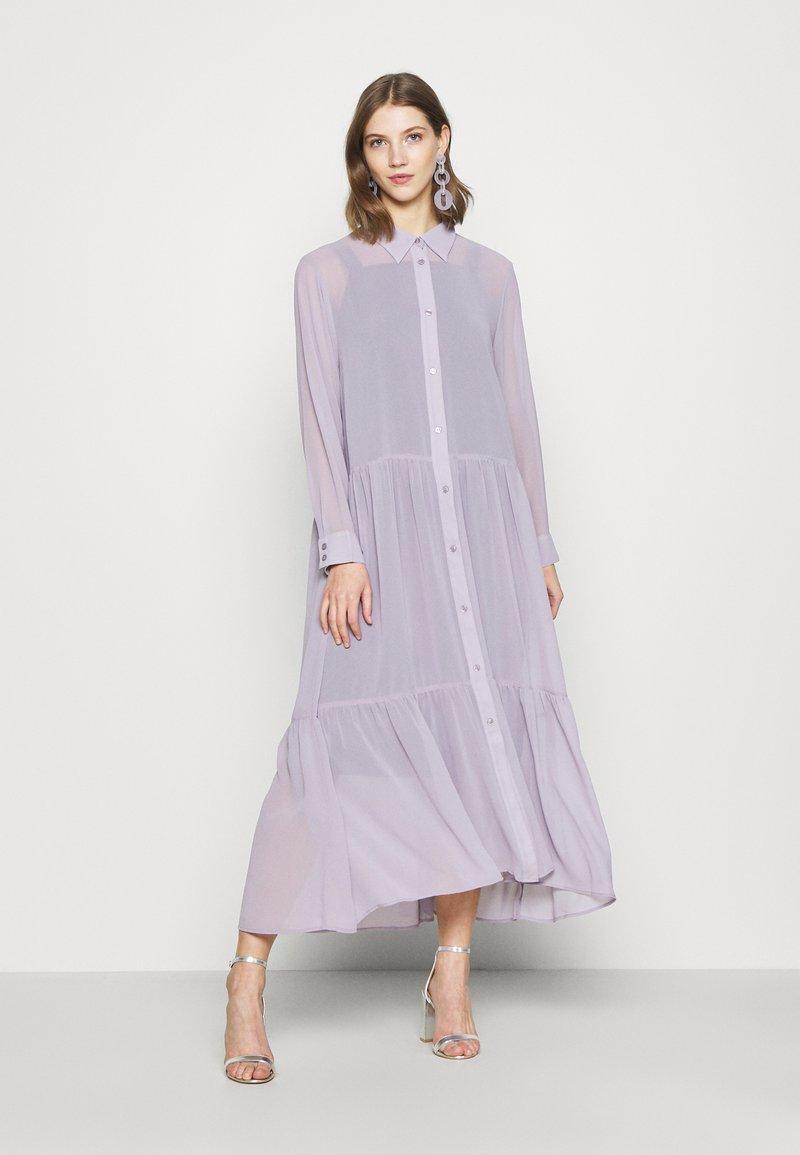 Monki - COLLINA DRESS - Blusenkleid - solid purple