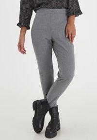PULZ - PXVICTORIA SPECIAL FAIR OFFER - Trousers - medium grey melange - 0