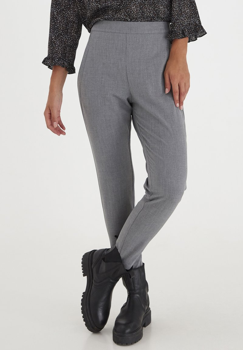 PULZ - PXVICTORIA SPECIAL FAIR OFFER - Trousers - medium grey melange