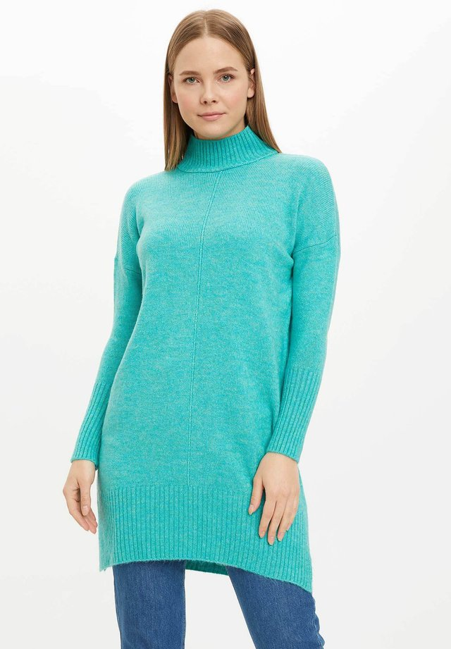 Sweter - turquoise