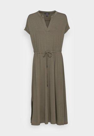 DRESS - Jersey dress - dark khaki