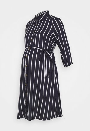 MLSINEM WOVEN DRESS - Vapaa-ajan mekko - navy blazer/strip snow white