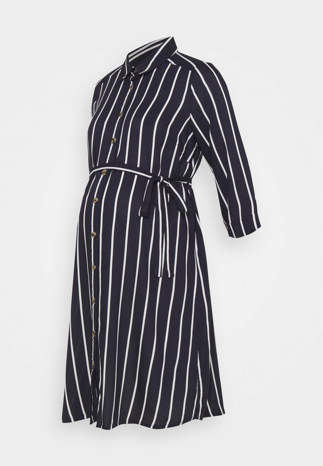 MLSINEM WOVEN DRESS - Skjortekjole - navy blazer/strip snow white