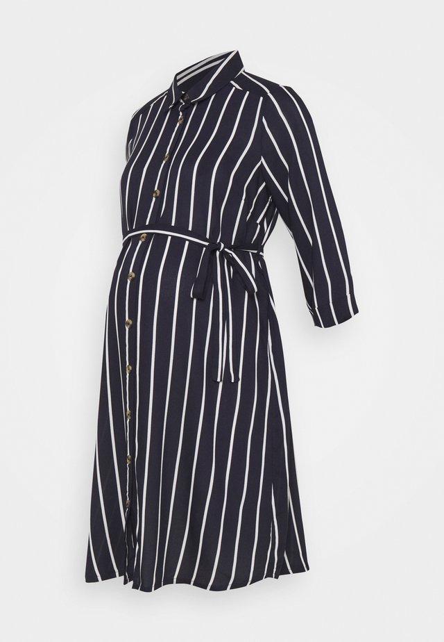 NURSING DRESS - Shirt dress - navy blazer/snow white