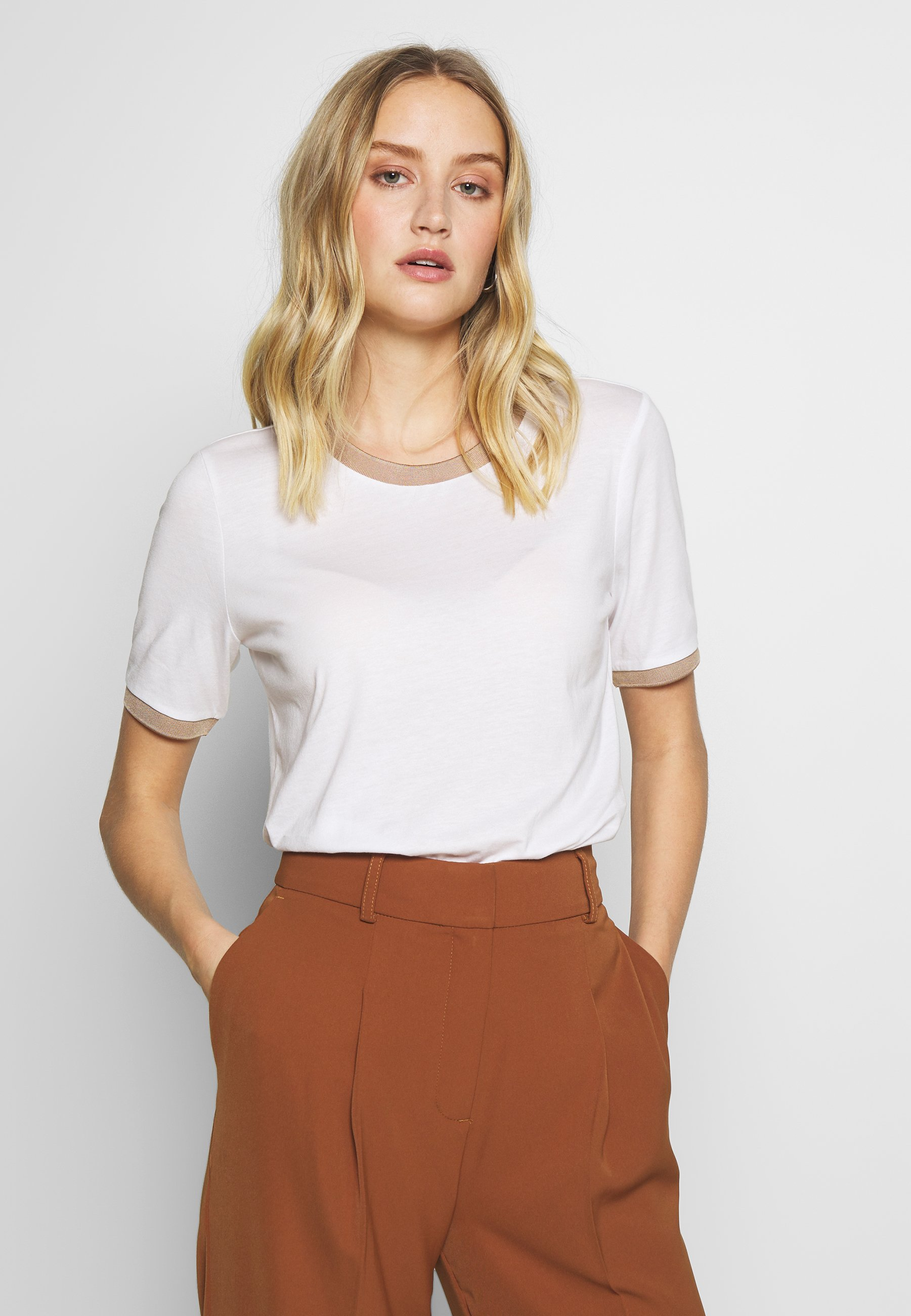 Women TEE WITH CONTRAST - Print T-shirt