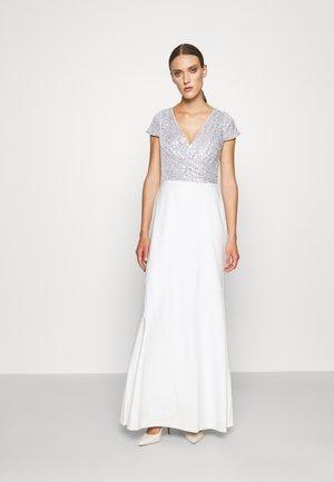 KRYSTAL CAP SLEEVE EVENING DRESS - Occasion wear - white/silver