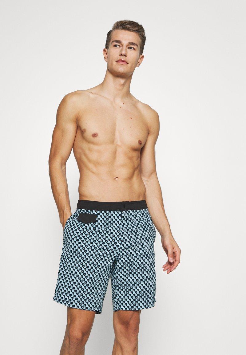 J.CREW - SEAWAVE PRINT POOL - Swimming shorts - blue/black