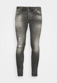 MORTEN DESTROYED - Slim fit jeans - dark grey
