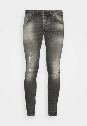 MORTEN DESTROYED - Vaqueros slim fit - dark grey