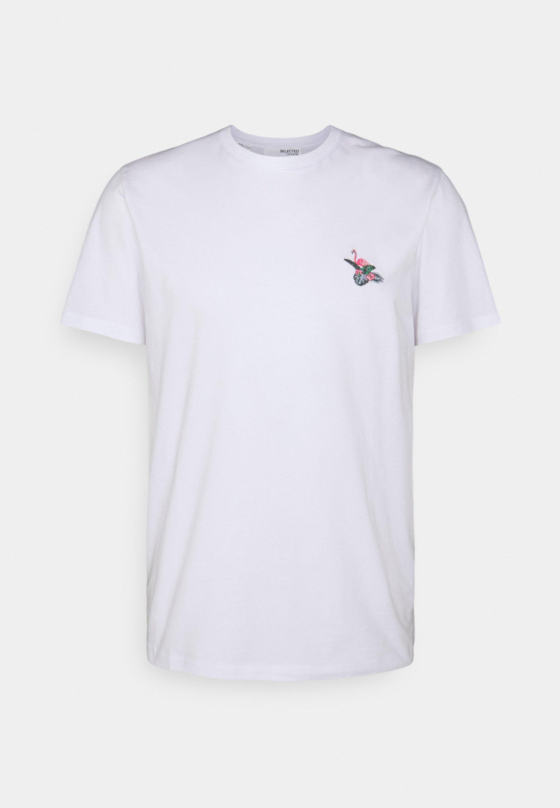 Men SLHHOLIDAY O NECK TEE - Basic T-shirt