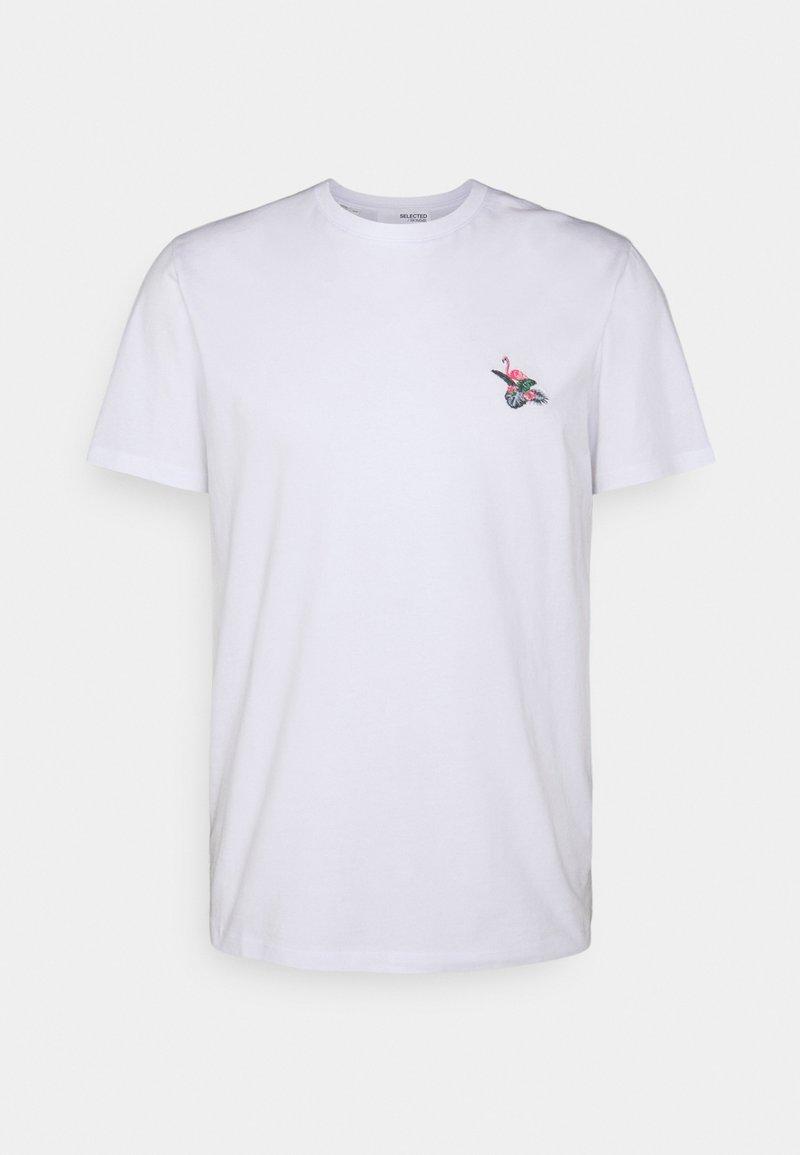 Selected Homme - SLHHOLIDAY O NECK TEE - Basic T-shirt - white