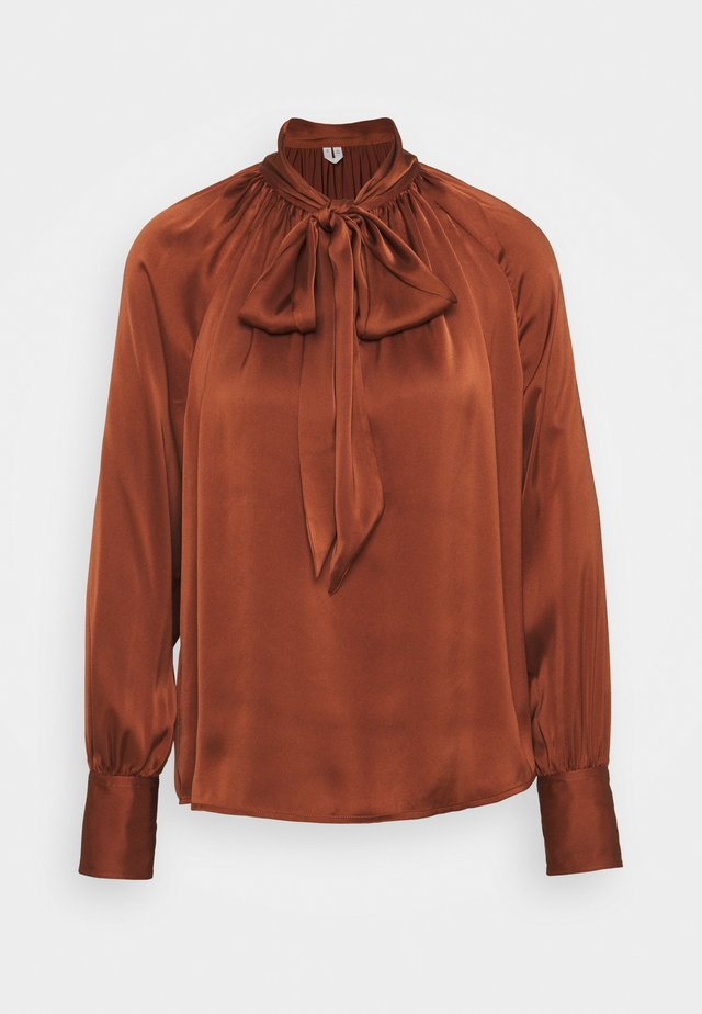 Blouse - brown medium