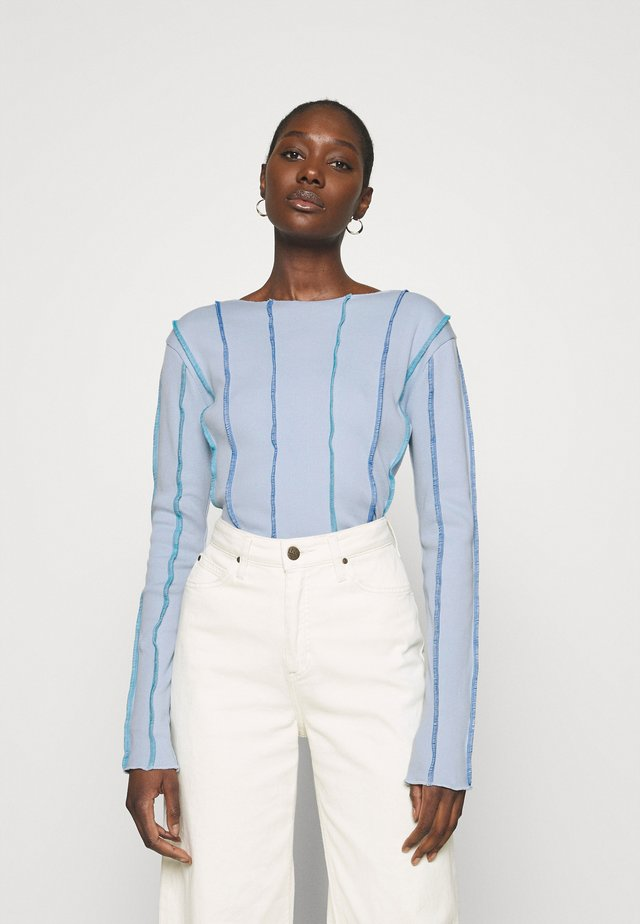 ANNA LONG SLEEVE - Maglietta a manica lunga - light blue