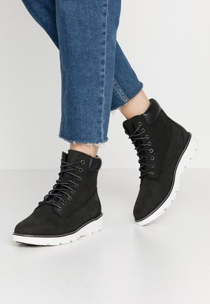 KEELEY FIELD - Lace-up ankle boots - black