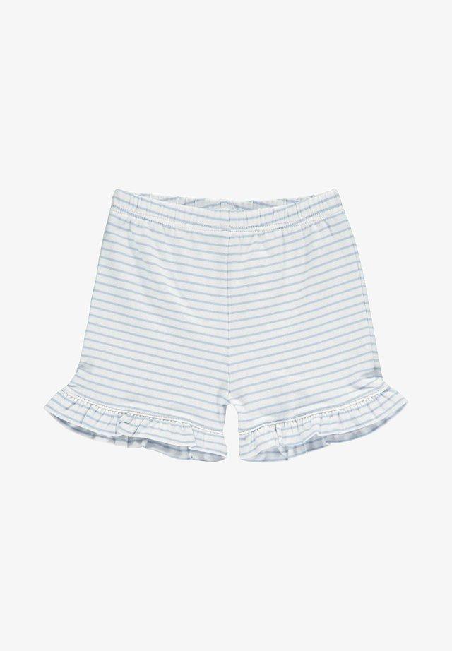 MIT TEDDYBÄRMOTIV AN DER TASCHE - Shorts - brunnera blue