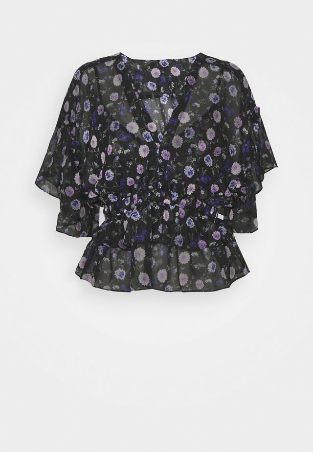 TOP - Blouse - black/purple