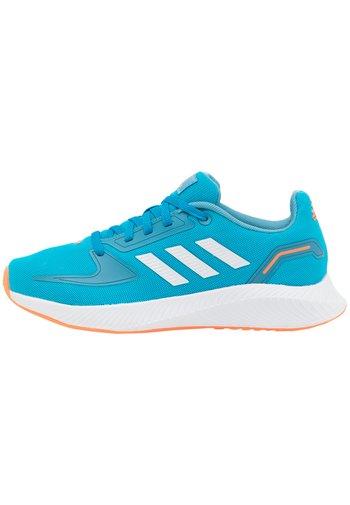 RUNFALCON 2.0 UNISEX - Neutral running shoes - solar blue/footwear white/hazy blue