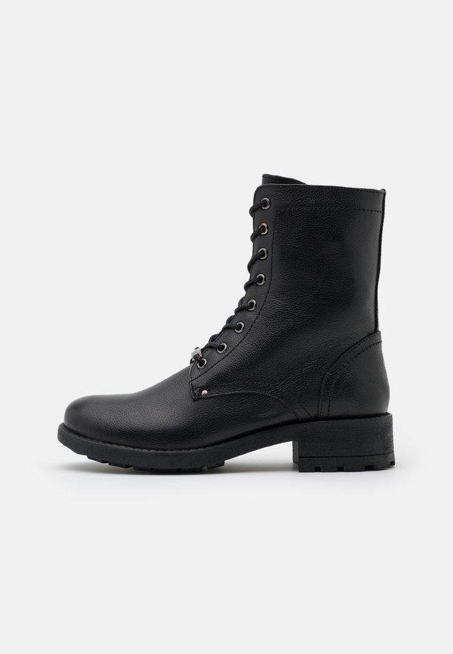 LAYA - Bottines à lacets - noir