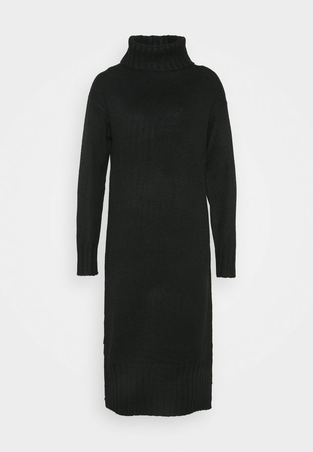 ROLL NECK DRESS - Neulemekko - black