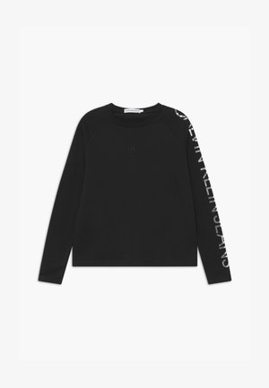 FOIL LOGO BOXY - Long sleeved top - black