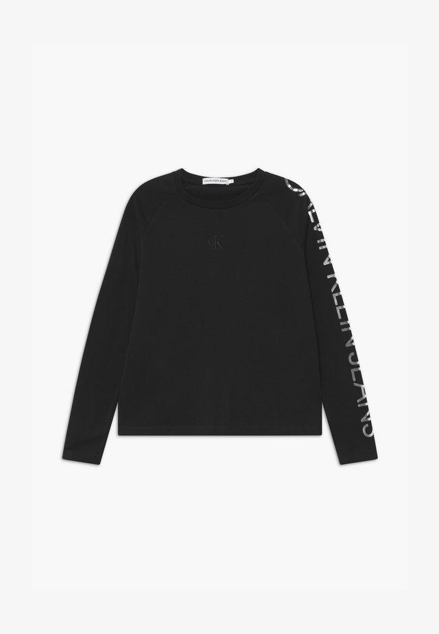 FOIL LOGO BOXY - Bluzka z długim rękawem - black