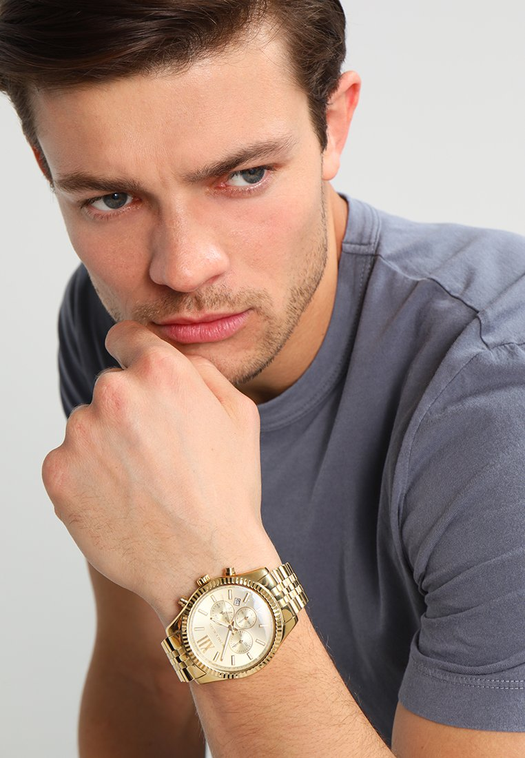 Michael Kors - LEXINGTON - Zegarek chronograficzny - gold