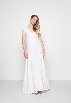 BRIDAL CAP SLEEVE DRESS - Galajurk - snow white