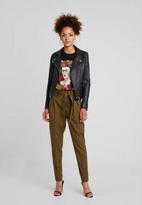 YAS - YASTUDOR PANT - Trousers - military olive - 1