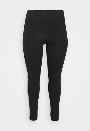 DOUBLE SIDE STRIPE - Leggings - Trousers - black