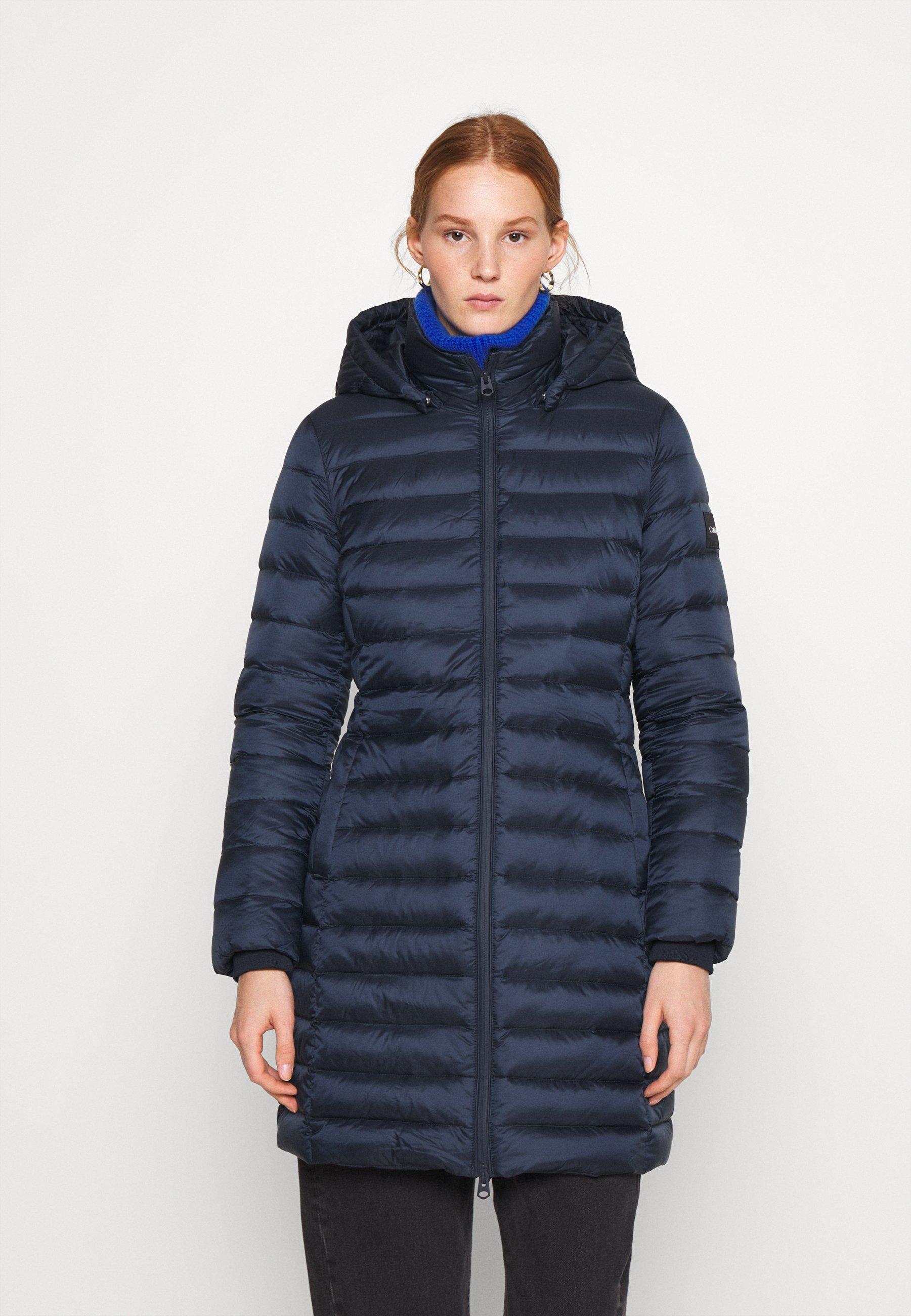 Bulk Designs New Styles Women's Clothing Calvin Klein COATED ZIP LIGHT COAT Down coat navy vzJd1iGbj dawlJOgE8