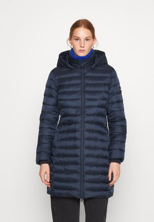 COATED ZIP LIGHT COAT - Abrigo de plumas - navy
