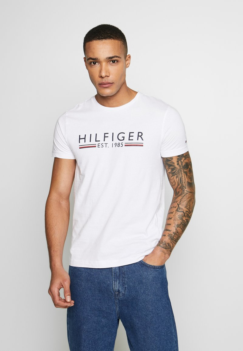 Tommy Hilfiger - TEE - T-shirts print - white