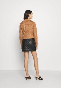 Miss Selfridge - BIKER - Faux leather jacket - tan - 2