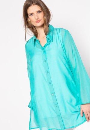 Button-down blouse - helles karibikgrün