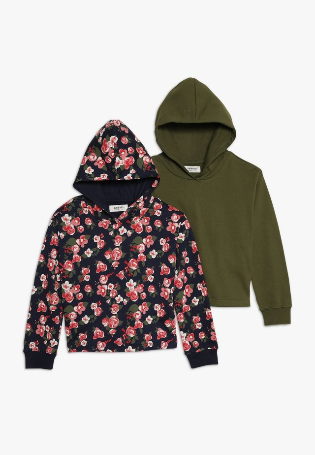 2 Pack - Hoodie - peacoat/wintermoss