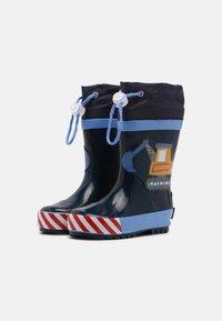 Playshoes - BAUSTELLE - Wellies - bleu - 1