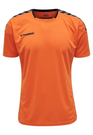 HMLAUTHENTIC - Print T-shirt - tangerine