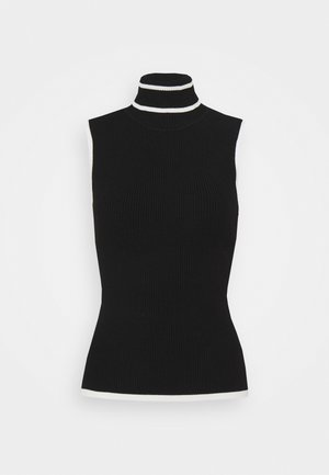 TIPPED SHELL - Top - black/ecru