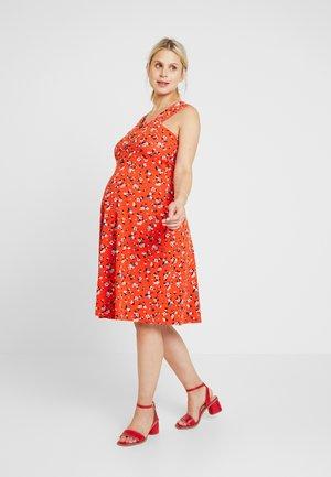 DRESS - Sukienka z dżerseju - red