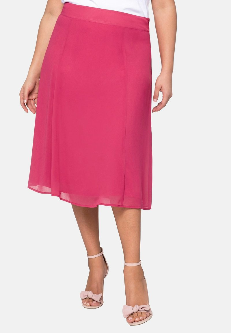 Sheego - A-line skirt - roses wood