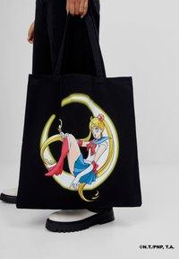 Bershka - SAILOR MOON - Tote bag - black - 1