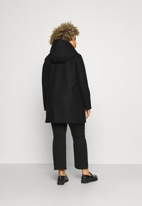 Vero Moda Curve - VMMOLLYHOODIE JACKET - Classic coat - black - 2